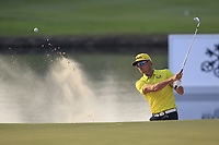 Raffa Cabrera Bello (ESP) plays onto the 18th green during Round 4 of the UBS Hong Kong Open, at Hong Kong golf club, Fanling, Hong Kong. 26/11/2017<br /> Picture: Golffile | Thos Caffrey<br /> <br /> <br /> All photo usage must carry mandatory copyright credit     (&copy; Golffile | Thos Caffrey)