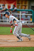 Alejo Lopez (5) of the Billings Mustangs at bat against the Orem Owlz in Pioneer League action at Home of the Owlz on July 25, 2016 in Orem, Utah. Orem defeated Billings 6-5. (Stephen Smith/Four Seam Images)