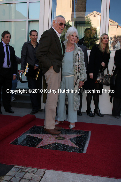 LOS ANGELES - JAN 14:  Stan Lee, Wife Joan Lee at the ceremony for Stan Lee as he receives his star on the Hollywood Walk of Fame at Hollywood Walk of Fame on January 14, 2011 in Los Angeles, CA.