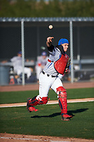 Roberto Moya (9) of Monsignor Edward Pace High School in Hialeah, Florida during the Baseball Factory All-America Pre-Season Tournament, powered by Under Armour, on January 13, 2018 at Sloan Park Complex in Mesa, Arizona.  (Zachary Lucy/Four Seam Images)