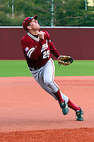 PULLMAN, WA-April 3, 2011:  Stanford player Stephen Piscotty in a game against Washington State University in Pullman, Washington.  Stanford won the game 4-3.