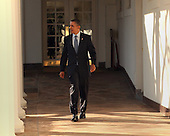 United States President Barack Obama walks the Colonnade at The White House in Washington, DC, hours before giving the State of the Union Speech, Tuesday, January 24, 2012. .Credit: Chris Kleponis / Pool via CNP