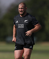 PRETORIA, SOUTH AFRICA - OCTOBER 05: Owen Franks during the Rugby Championship New Zealand All Blacks captain's run at St David's Marist Inanda in Sandown, South Africa on Friday, October 5, 2018. Photo: Steve Haag / stevehaagsports.com