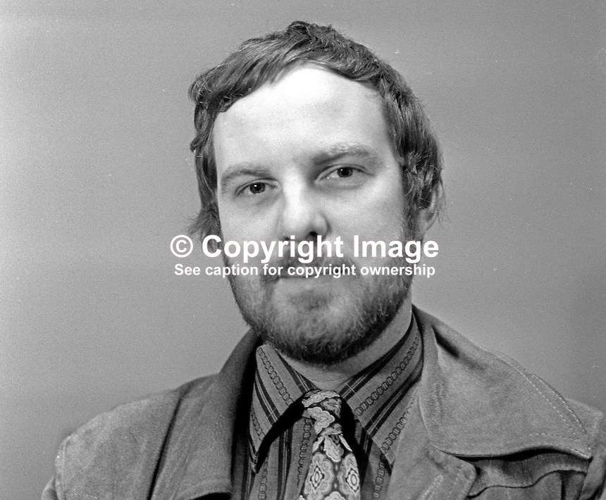 Andrew Stevens, reporter, journalist, The Observer, London, UK, who was that newspaper's man covering The Troubles in N Ireland. 197511250746 November 1975<br />