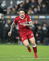 Danny Ings of Liverpool during the Premier League match between Swansea City and Liverpool at the Liberty Stadium, Swansea, Wales on 22 January 2018. Photo by Mark Hawkins / PRiME Media Images.