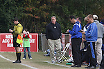 10 November 2007: Duke head coach John Rennie coaches his final regular season game before retiring. The Duke University Blue Devils defeated the North Carolina State University Wolfpack 2-0 at Method Road Soccer Stadium in Raleigh, North Carolina in an Atlantic Coast Conference NCAA Division I Men's Soccer game.