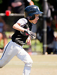 WATERBURY,  CT-071918JS12--Overlook's Braden Kunkel (5) rounds third base on his way to score during their Roberto Clemente tournament game against Brooklyn (NY) Bonnie's Thursday at Municipal Stadium in Waterbury. <br /> Jim Shannon Republican American