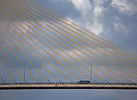 The Neak Loeung Bridge across the Mekong River, Cambodia
