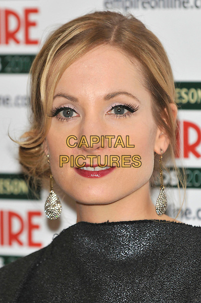 JOANNE FROGGATT.The Jameson Empire Film Awards at the Grosvenor House Hotel, Park Lane, London, England, UK..March 27th 2011.headshot portrait black red lipstick .CAP/PL.©Phil Loftus/Capital Pictures.