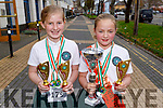 Ellie Lyons from Ballyduff and Tara Kirby from Causeway who both won medals at the WIDA Irish Open Championships in the Brandon Hotel on Saturday morning.Tralee.