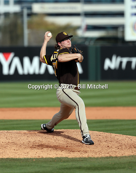 Sam Williams - San Diego Padres 2020 spring training (Bill Mitchell)