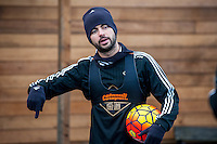 Wednesday  06 January 2016<br /> Pictured: Jordi Amat of Swansea<br /> Re: Swansea City Training session at the Fairwood training ground, Swansea, Wales, UK