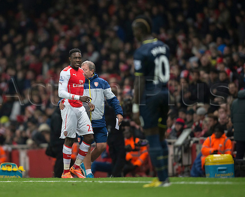 03.12.2014.  London, England. Premier League. Arsenal versus Southampton. Arsenal's Danny Wellbeck is substituted.
