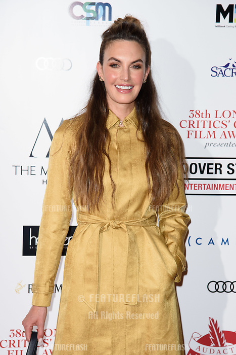 Elizabeth Chambers at the 38th Annual London Critics' Circle Film Awards at the Mayfair Hotel, London, UK. <br /> 28 January  2018<br /> Picture: Steve Vas/Featureflash/SilverHub 0208 004 5359 sales@silverhubmedia.com