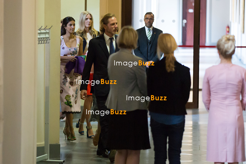 Mariage civil du Prince Ernst junior de Hanovre et de Ekaterina Malysheva, &agrave; l' h&ocirc;tel de ville de Hanovre.<br /> Allemagne, Hanovre, 6 juillet 2017.<br /> Civil wedding of Prince Ernst Junior of Hanover and Ekaterina Malysheva at the new Town Hall in Hanover.<br /> Germany, Hannover, 6 july 2017<br /> Pic : Alessandra de Osma , Prince Andrea Casiraghi