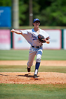 Pensacola Blue Wahoos relief pitcher Jimmy Herget (20) delivers a pitch during a game against the Mobile BayBears on April 26, 2017 at Hank Aaron Stadium in Mobile, Alabama.  Pensacola defeated Mobile 5-3.  (Mike Janes/Four Seam Images)