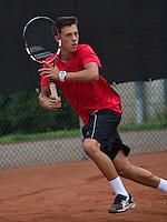 August 8, 2014, Netherlands, Rotterdam, TV Victoria, Tennis, National Junior Championships, NJK,   Ruben Konings (NED)<br /> Photo: Tennisimages/Henk Koster