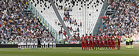 Calcio, Serie A: Torino, Allianz Stadium, 19 agosto 2017. <br /> Juventus and Cagliari players observe a minute's silence in tribute to the victims of the Barcelona attacks before the Italian Serie A football match between Juventus and Cagliari at Torino's Allianz Stadium, August 19, 2017.<br /> UPDATE IMAGES PRESS/Isabella Bonotto