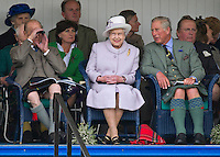 PRINCE PHILIP .sports a kilt in the traditional manner when he made his first public appearance since being hospitalised at the Braemar Games, Scotland..The Duke was joined by The Queen, Prince Charles and Camilla, Duchess of Cornwall at the annual Scottish Highland Games_01/01/2012