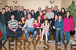 FAMILY CELEBRATIONS: Brother and sister Declan and Aisling McMahon, Spa Road (seated 3rd & 4th left) celebrated their 35th and 30th birthdays together with family and friends at the Greyhound Bar on Saturday night.   Copyright Kerry's Eye 2008
