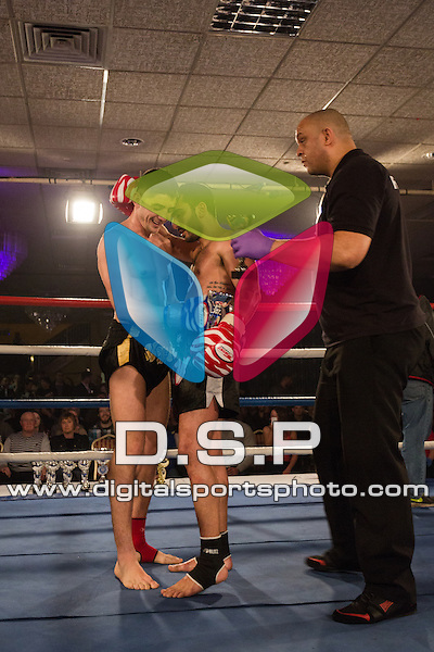 Shaz Nasrin VS Maxi Mino. Photo by: Stephen Smith<br /> <br /> Total Collision 1 - Saturday 28th February 2015. The Carrington Hotel, Bournemouth, Dorset, United Kingdom.