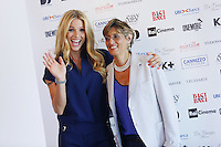 Michelle Hunziker and Giulia Buongiorno attend a photocall for the movie 'Ancora un'Altra Storia' during the 72nd Venice Film Festival at the Palazzo Del Cinema in Venice, Italy, September 7, 2015.<br /> UPDATE IMAGES PRESS/Stephen Richie