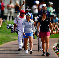 Nasa Hataoka of Japan, walks to the 18th green  during the final round of the ANA Inspiration at the Mission Hills Country Club in Palm Desert, California, USA. 4/1/18.<br /> <br /> Picture: Golffile | Bruce Sherwood<br /> <br /> <br /> All photo usage must carry mandatory copyright credit (&copy; Golffile | Bruce Sherwood)