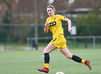 20200329 – BRUGGE, BELGIUM : Ellen Charlier pictured during a women soccer game between Dames Club Brugge and Standard Femina de Liege on the 17 th matchday of the Belgian Superleague season 2019-2020 , the Belgian women's football  top division , saturday 29 th February 2020 at the Jan Breydelstadium – terrain 4  in Brugge  , Belgium  .  PHOTO SPORTPIX.BE | DAVID CATRY