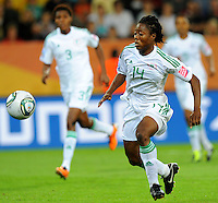 Faith Ikidi of team Nigeria during the FIFA Women's World Cup at the FIFA Stadium in Dresden, Germany on July 5th, 2011.