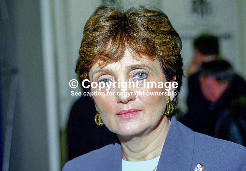Theresa Ahearn, TD, Fine Gael, Rep of Ireland, 199902013..Copyright Image from Victor Patterson, 54 Dorchester Park, Belfast, UK, BT9 6RJ..Tel: +44 28 9066 1296.Mob: +44 7802 353836.Voicemail +44 20 8816 7153.Skype: victorpattersonbelfast.Email: victorpatterson@mac.com.Email: victorpatterson@ireland.com (back-up)..IMPORTANT: If you wish to use this image or any other of my images please go to www.victorpatterson.com and click on the Terms & Conditions. Then contact me by email or phone with the reference number(s) of the image(s) concerned.
