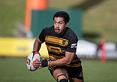 Bombay Captain Pat Masoe. Counties Manukau Premier 1 McNamara Cup Final between Ardmore Marist and Bombay, played at Navigation Homes Stadium on Saturday July 20th 2019.<br />  Bombay won the McNamara Cup for the 5th time in 6 years, 33 - 18 after leading 14 - 10 at halftime.<br /> Photo by Richard Spranger.