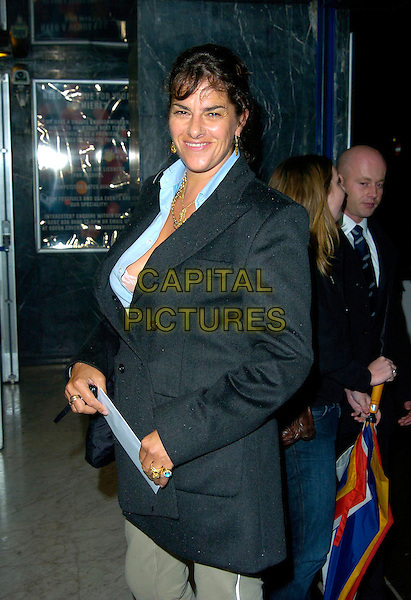 "TRACEY EMIN.Attends the gala screening of ""Control"", Odeon Covent Garden, London, England, October 2nd 2007..half length blue suit jacket tracy.CAP/CAN.©Can Nguyen/Capital Pictures"