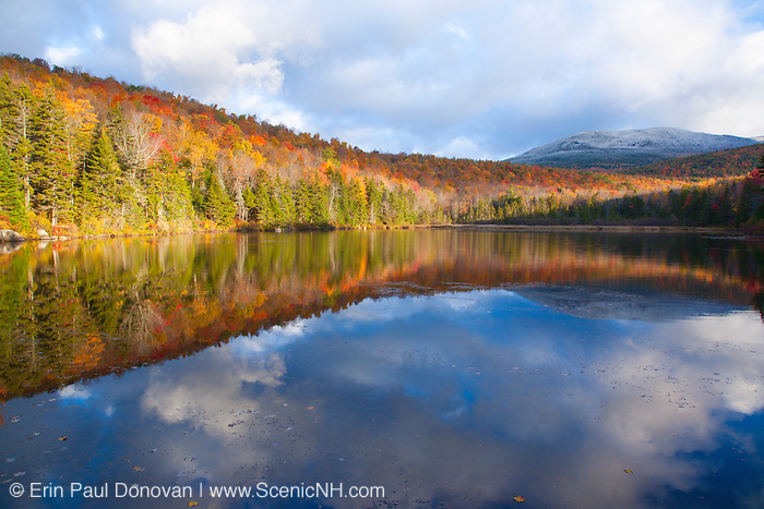 Sandwich Notch - Kiah Pond during the autumn months in Sandwich, New Hampshire USA.