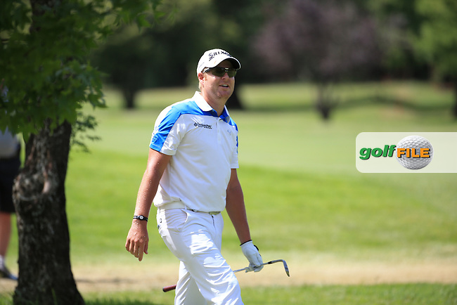 Jacques Blaauw (RSA) full of the joys of spring despite being amongst the trees down the 8th during Round Two of the 2016 BMW SA Open hosted by City of Ekurhuleni, played at the Glendower Golf Club, Gauteng, Johannesburg, South Africa.  08/01/2016. Picture: Golffile | David Lloyd<br /> <br /> All photos usage must carry mandatory copyright credit (&copy; Golffile | David Lloyd)
