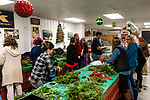 BETHLEHEM, CT. 06 December 2018-120618 - Women and some men gather to make christmas wreaths during the annual Wreath making social event at March Farms in Bethlehem on Thursday. Sue March the owner of March Farms says for everyone to sig up and get your spots early next year as they went very quickly this year. Bill Shettle Republican-American