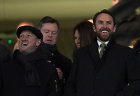 England Manager Gareth Southgate & assistant Steve Holland (left) during the Premier League match between Chelsea and West Bromwich Albion at Stamford Bridge, London, England on 12 February 2018. Photo by Andy Rowland.