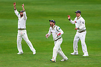 Picture by Alex Whitehead/SWpix.com - 22/04/2018 - Cricket - Specsavers County Championship Div One - Yorkshire v Nottinghamshire, Day 3 - Emerald Headingley Stadium, Leeds, England - Yorkshire's Alex Lees, Andrew Hodd and Adam Lyth.