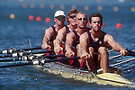 Rowing, US Men's quad, 1996 Olympics, Atlanta, Lake Lanier, Gainesville, Georgia, United States of America.