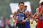 Hiroto Inoue (JPN), <br /> AUGUST 25, 2018 - Athletics - Marathon : <br /> Men's Marathon <br /> at Marathon Course <br /> during the 2018 Jakarta Palembang Asian Games <br /> in Jakarta, Indonesia. <br /> (Photo by Naoki Morita/AFLO SPORT)