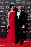 Guillermo de Oliveira and Luisa Cowell attends to 33rd Goya Awards at Fibes - Conference and Exhibition  in Seville, Spain. February 02, 2019. (ALTERPHOTOS/A. Perez Meca)