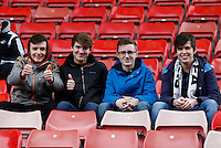 Swansea fans during the Barclays Premier League match between Stoke City and Swansea City played at Britannia Stadium, Stoke on April 2nd 2016