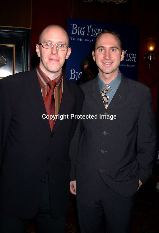 """John August and partner Mike Douglass..at the World Premiere of """"Big Fish"""" on December 4, 2003 at the Ziegfeld Theatre in New York City.                               Photo by Robin Platzer, Twin Images"""