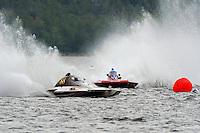 "S-88 ""Playin Again,  2.5 Litre Stock class hydroplane & Marc Theoret, CS-444,  2.5 Litre Stock class hydroplane.Syracuse Hydrofest, Onondaga Lake, Syracuse, NY.20/21 June, 2009, Dayton, OH USA..©F. Peirce Williams 2009 USA.F.Peirce Williams.photography.ref: RAW (.NEF) File Available"