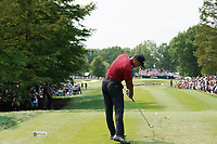 Tiger Woods (USA) tees off on the 7th hole during the final round of the 100th PGA Championship at Bellerive Country Club, St. Louis, Missouri, USA. 8/12/2018.<br /> Picture: Golffile.ie | Brian Spurlock<br /> <br /> All photo usage must carry mandatory copyright credit (&copy; Golffile | Brian Spurlock)