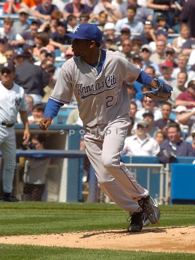 Denny Bautista, of the Kansas City Royals in action against the New York Yankees in New York...Chris Bernacchi / SportPics