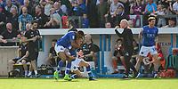 Carlisle United's Mike Jones, right, celebrates scoring the opening goal with team-mate Kelvin Etuhu<br /> <br /> Photographer Chris Vaughan/CameraSport<br /> <br /> The EFL Sky Bet League Two - Carlisle United v Lincoln City - Friday 19th April 2019 - Brunton Park - Carlisle<br /> <br /> World Copyright © 2019 CameraSport. All rights reserved. 43 Linden Ave. Countesthorpe. Leicester. England. LE8 5PG - Tel: +44 (0) 116 277 4147 - admin@camerasport.com - www.camerasport.com