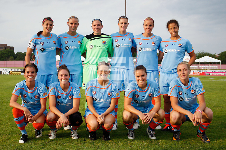 Sky Blue FC starting eleven. Sky Blue FC defeated the Atlanta Beat 1-0 during a Women's Professional Soccer (WPS) match at Yurcak Field in Piscataway, NJ, on June 22, 2011.