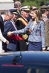 01.10.2012. The Spanish Royal Family, King Juan Carlos, Queen Sofia, Prince Felipe, Princess Letizia and Princess Elena attend the imposition of collective Distinguished Cross San Fernando Al Banner Armored Cavalry Regiment ´Alcántara´ No. 10 in the Royal Palace in Madrid, Spain. In the image Princess Letizia (Alterphotos/Marta Gonzalez)