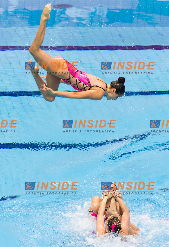 Team FRA<br /> London, Queen Elizabeth II Olympic Park Pool <br /> LEN 2016 European Aquatics Elite Championships <br /> Synchro<br /> Team technical final <br /> Day 01 09-05-2016<br /> Photo Giorgio Perottino/Deepbluemedia/Insidefoto