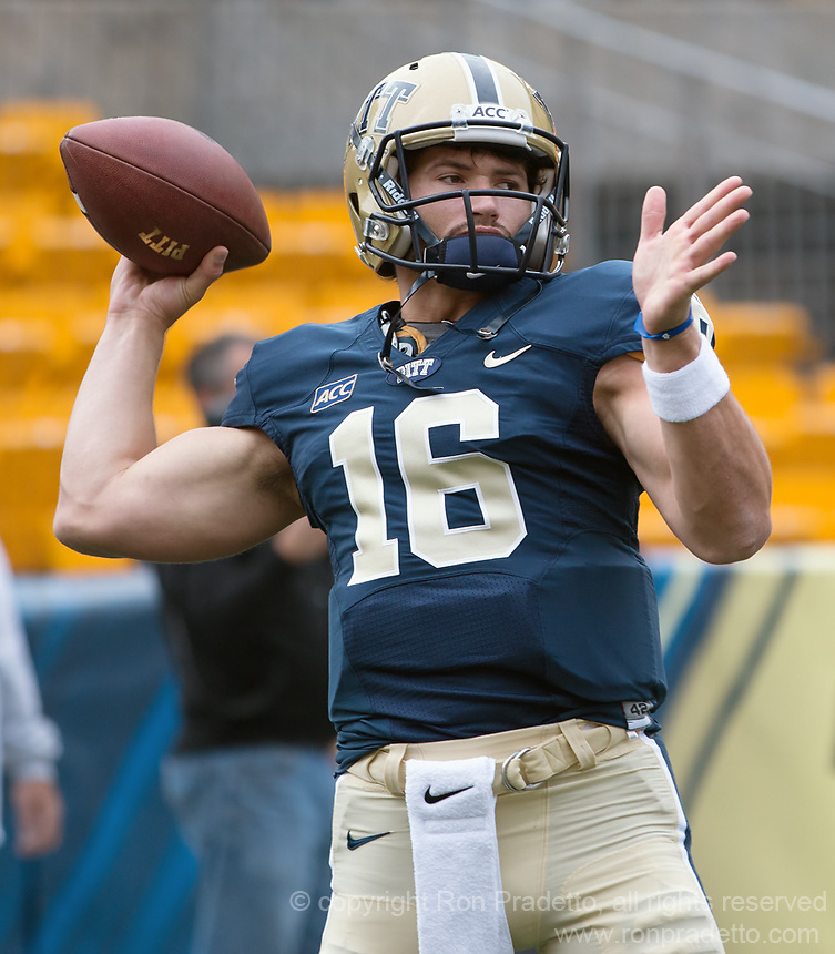 Pitt quarterback Chad Voytik. The North Carolina Tar Heels defeated the Pitt Panthers 34-27 at Heinz Field, Pittsburgh Pennsylvania on November 16, 2013.